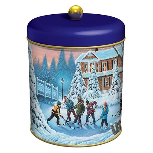 Water Bridge English Biscuit Barrel, Assorted, Tin