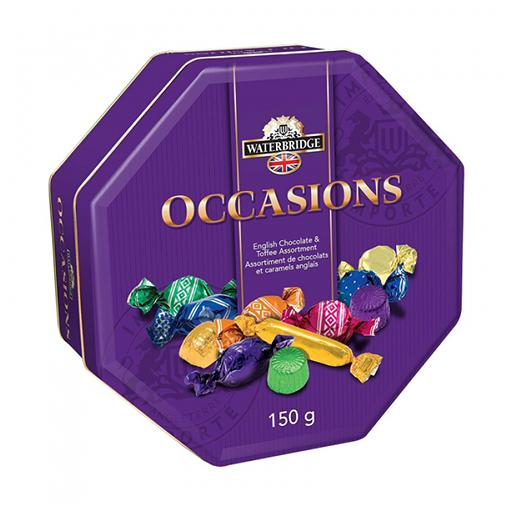 Occasions, English Chocolate & Toffee Assortment, Tin, Waterbridge