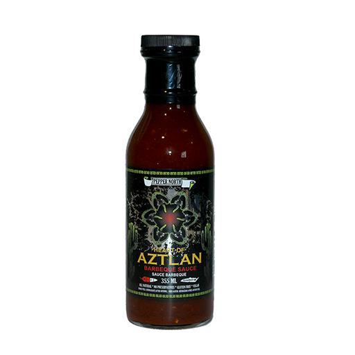 Barbeque Sauce, Heart of Aztlan, Smoked Apple & Bourbon with Chilhuacle Rojo Peppers