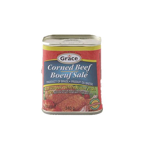 Corned Beef, Reduce Salt, Canned, Grace