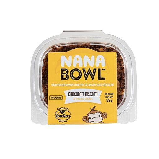 NaNa Bowl, Chocolate Biscotti & Peanut Butter, Vegan