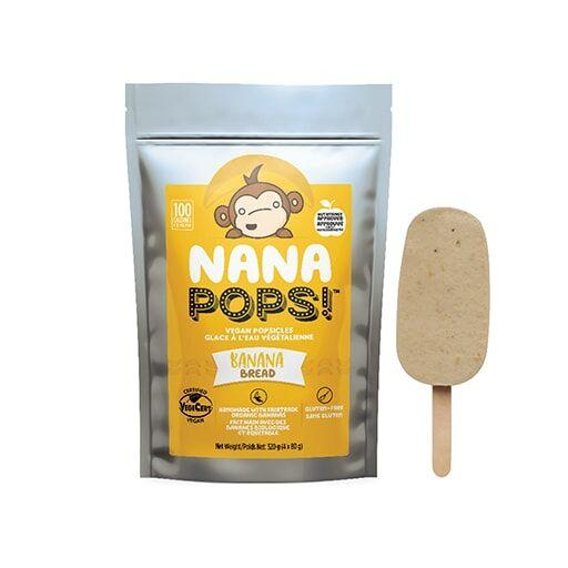 NaNa Pops, Banana Bread, Pack of 4 Pops, Vegan