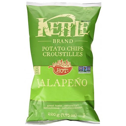 Kettle Cooked Potato Chip, Jalapeno, Kettle Foods