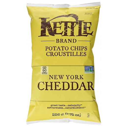 Kettle Cooked Potato Chip, New York Cheddar, Kettle Foods
