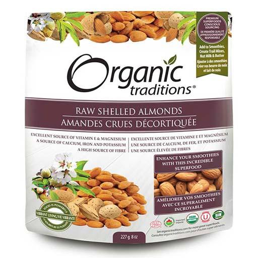 Almonds, Raw & Shelled, Organic