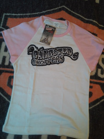 Ladies Pink Cap Short Sleeve Shirt