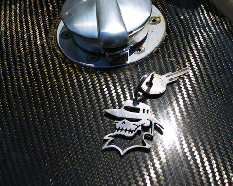 Gangster Skull Key Chain