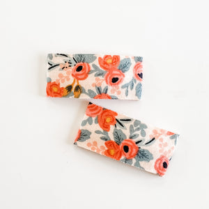 Snap Clips || Peach Rosa - Darling Emma Handmade