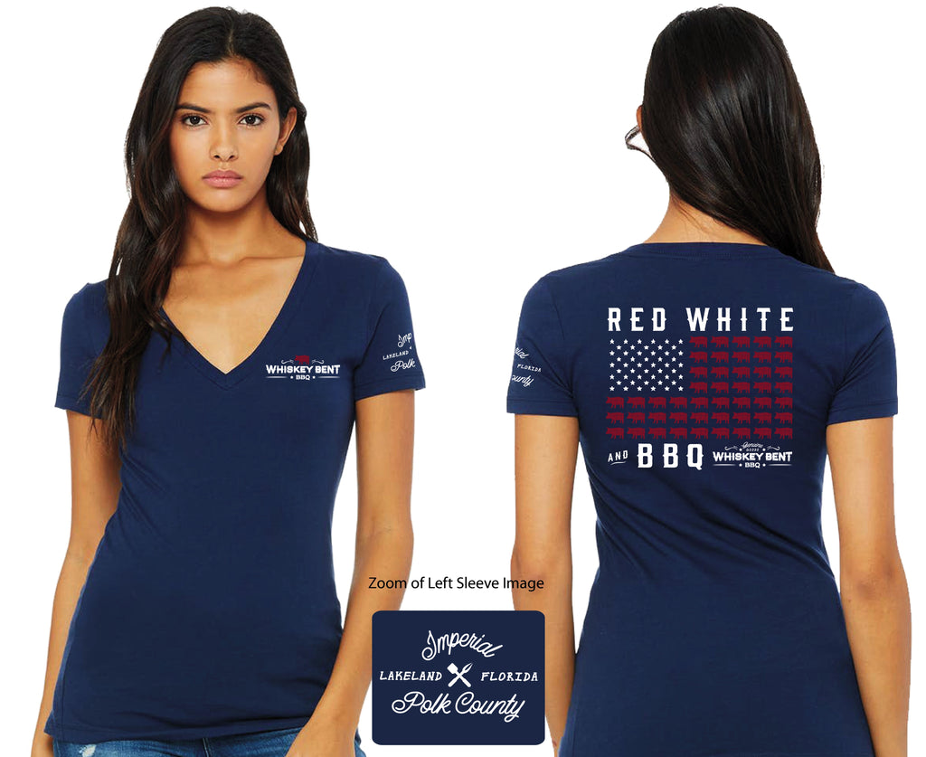 Women's Red, White, and BBQ T-Shirt