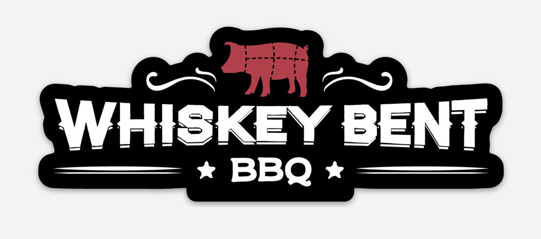 "Whiskey Bent BBQ Logo 5"" Die Cut Sticker"