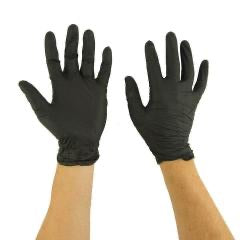 GPS Diesel Black Nitrile Gloves Box of 100