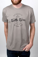 Mens T-Shirt: Battle Born Authentic (Grey)
