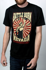 Mens T-Shirt: Battle Born Bomber (Black)