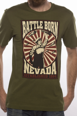 Mens T-Shirt: Battle Born Bomber (Green)