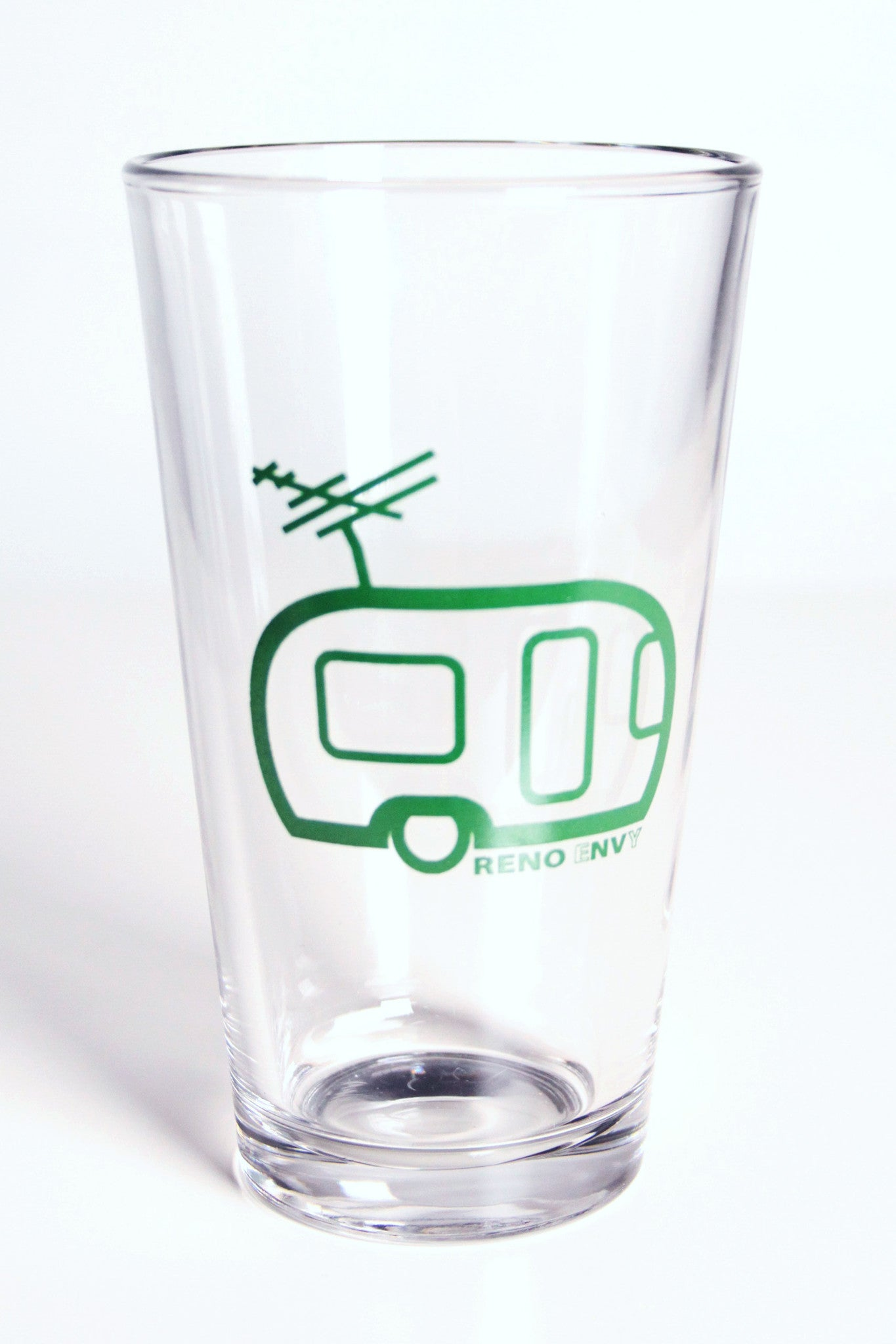 Pint Glass: eNVy Trailer (Green)