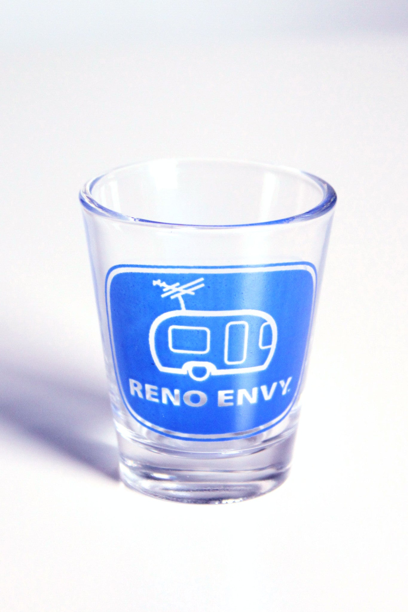 Shot Glass: Reno eNVy Trailer (Blue)