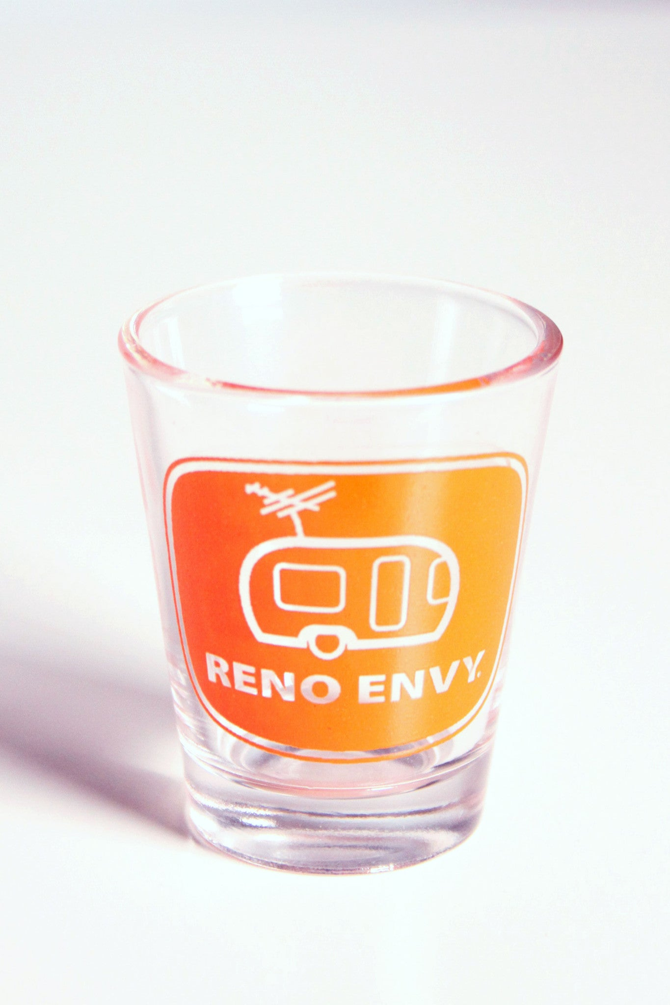 Shot Glass: Reno eNVy Trailer (Orange)