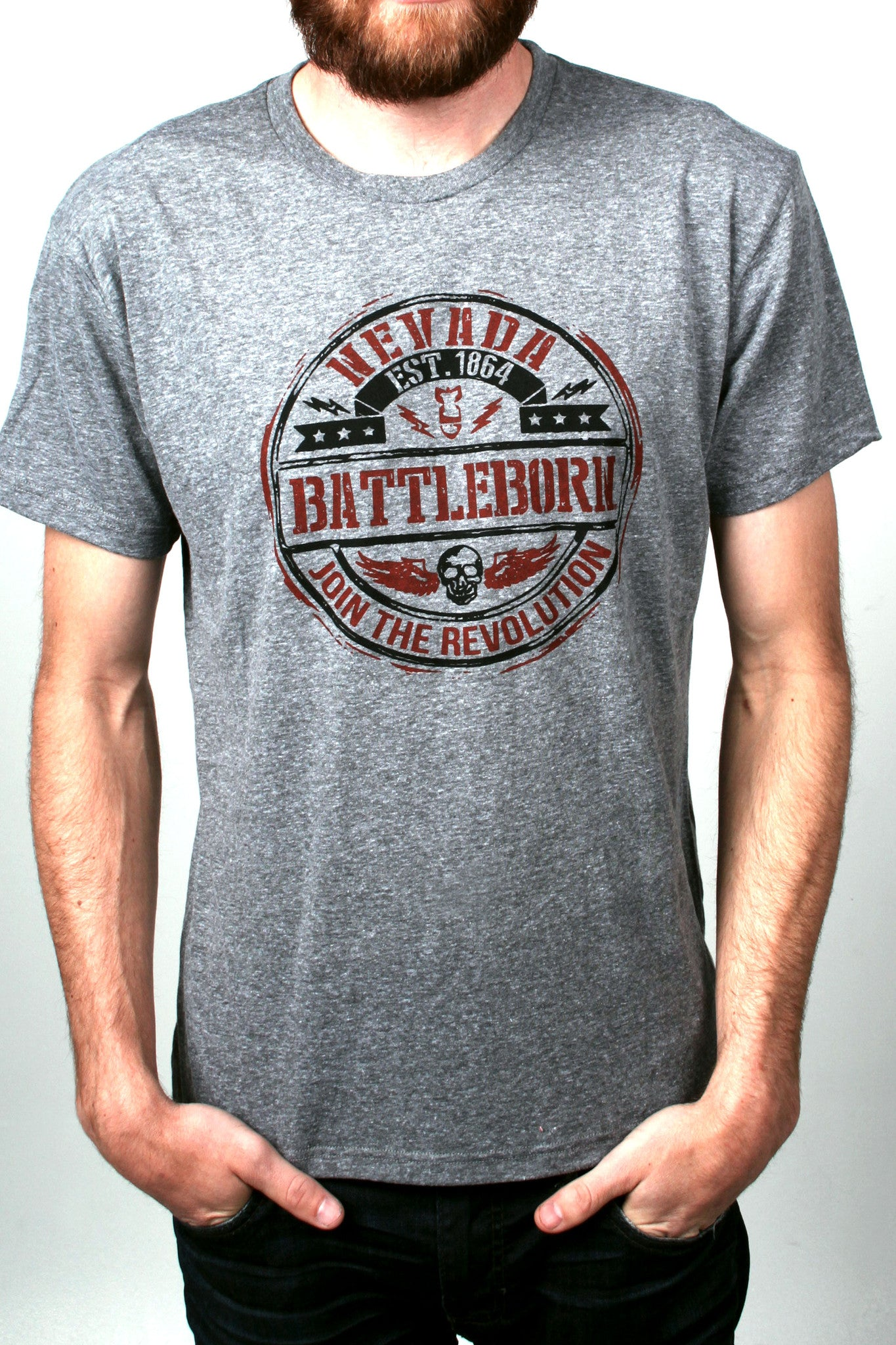 Mens T-Shirt: Join the Rev (Grey)