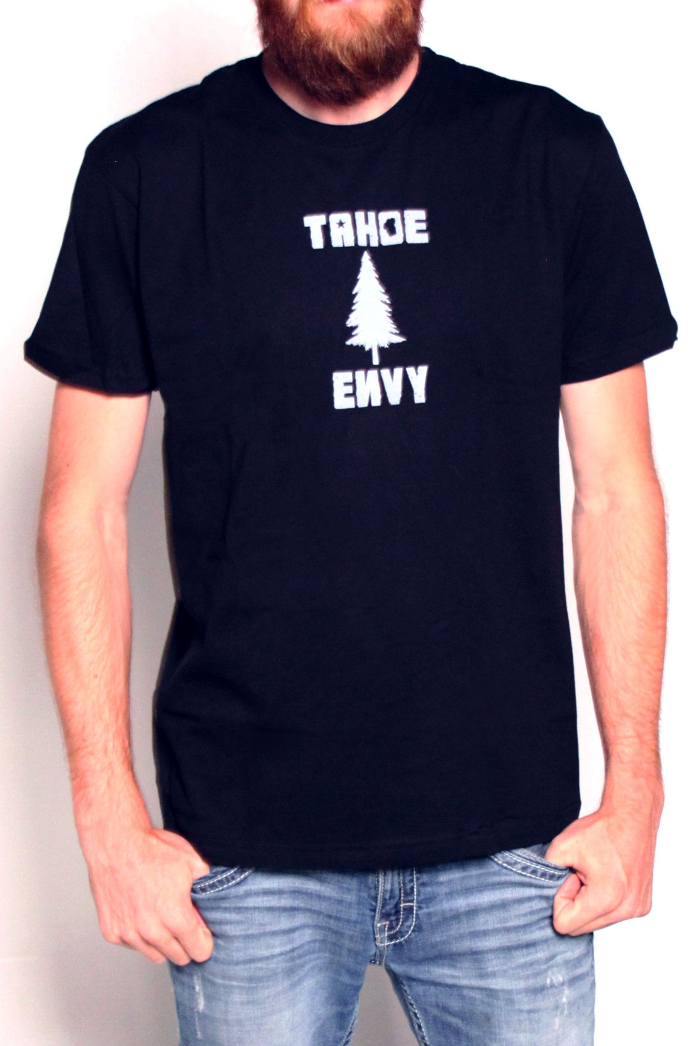 Mens T-Shirt: Tahoe Pine (Black)