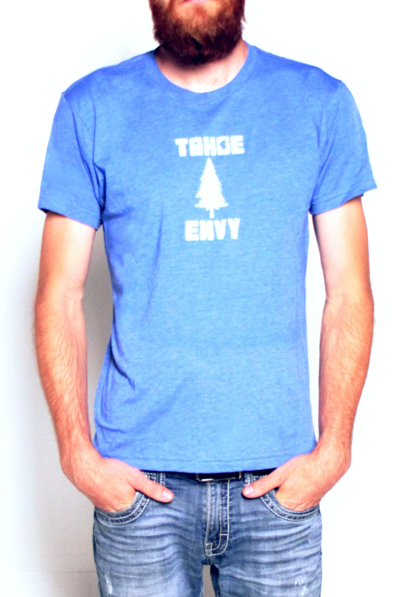 Mens T-Shirt: Tahoe Pine (Lake Blue)