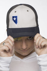 Trucker Hat: Front View (Grey)