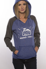 Snow Trailer Hoodie (Charcoal/Royal)