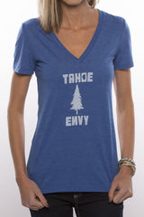 Tahoe Pine Women V-Neck (Blue)
