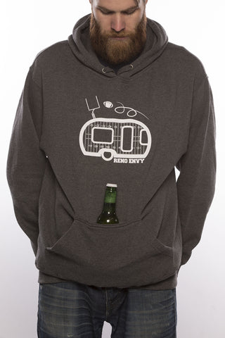 Footballer Hoodie (with Beer Koozie)