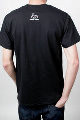Mens T-Shirt (back): Not Cal (Black)