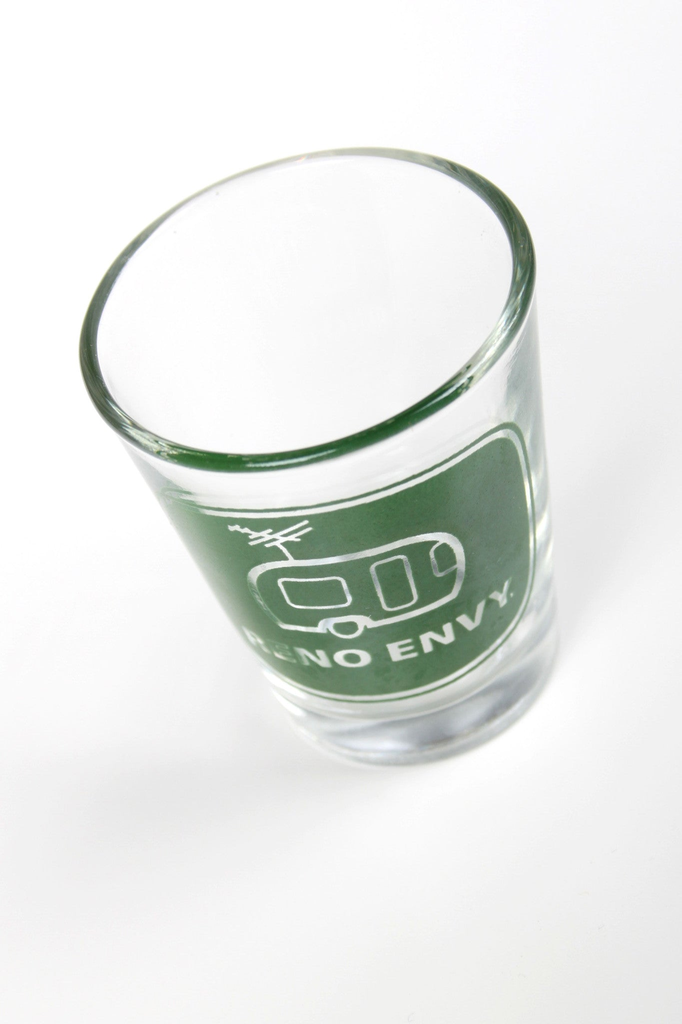 Shot Glass: Reno eNVy Trailer (Green)