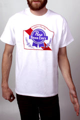 Mens T-Shirt: Reno Pure Envy (White)