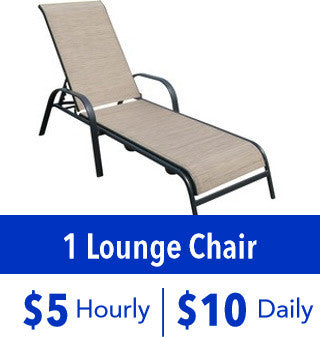 1 Lounge Chair Rental