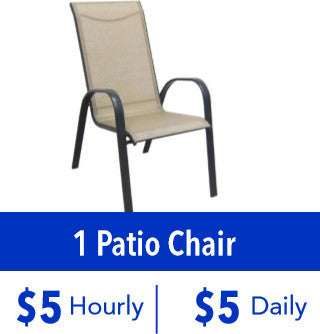 1 Patio Chair Rental