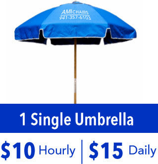 1 Single Umbrella Rental
