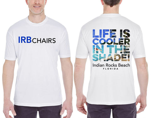 Men's Moisture Wicking T-shirt: Life Is Cooler In The Shade