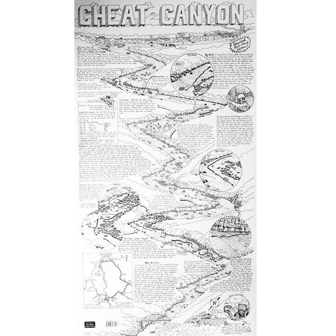 Cheat River Canyon Whitewater Map Drawing  by William Nealy