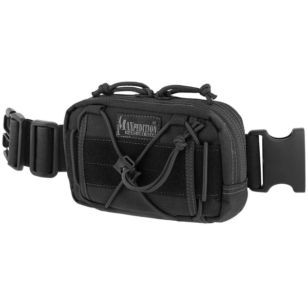 "Maxpedition Janus Extension Pocket Black Finish, 8""x1.5""x4"""