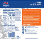 Mountain House Lasagna with Meat Sauce Freeze Dried Meal, 2 Servings, Pouch