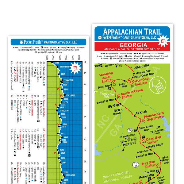 Pocket Profile Appalachian Trail Elevation Profile Maps The Gear House