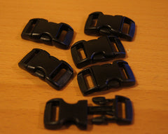 5 Pack of Black – 3/8″ Curved Side Release Buckle