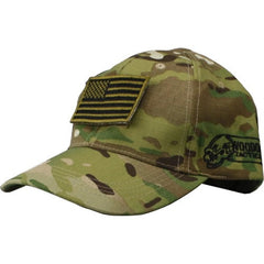Voodoo Tactical Contractor Baseball Cap with Flag Patch, Multicam