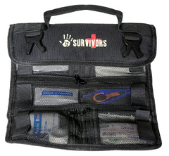 12 Survivors Mini First Aid Rollup Kit - 72 Pieces