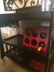 Finished wine and beverage cart by SmartGirl Bags