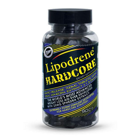 Lipodrene Hardcore 25mg Ephedra and DMAA by Hi Tech Pharmaceuticals - 90 Count