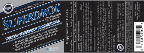 Superdrol® Prohormone Supplement by Hi Tech - 42 Count