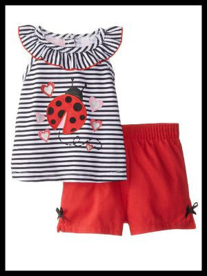 Little Ladybug Short Set