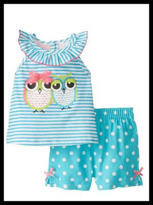 Hootie Owl Short Set
