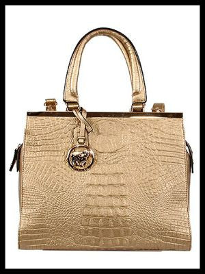 Crocodile Textured Satchel/Tote