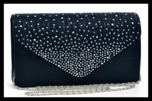 Rhinestone Frosted Evening Clutch