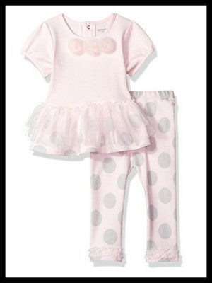 Designer Girls' Tutu Top and Legging Set